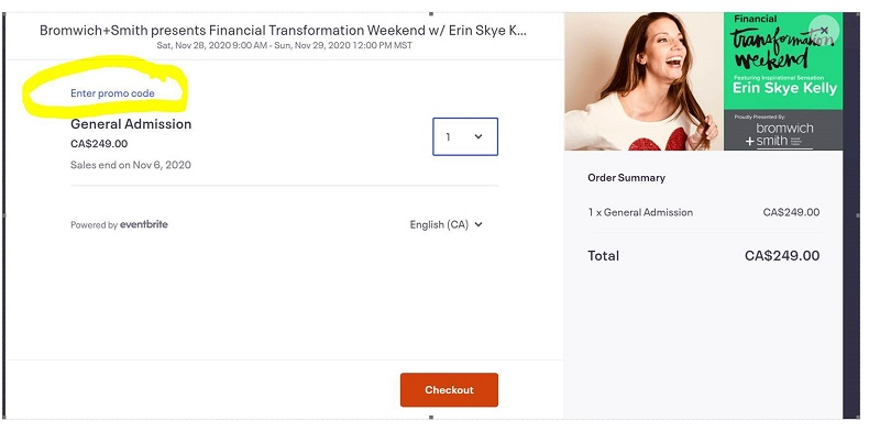 Bromwich+Smith presents Financial Transformation Weekend w/ Erin Skye Kelly